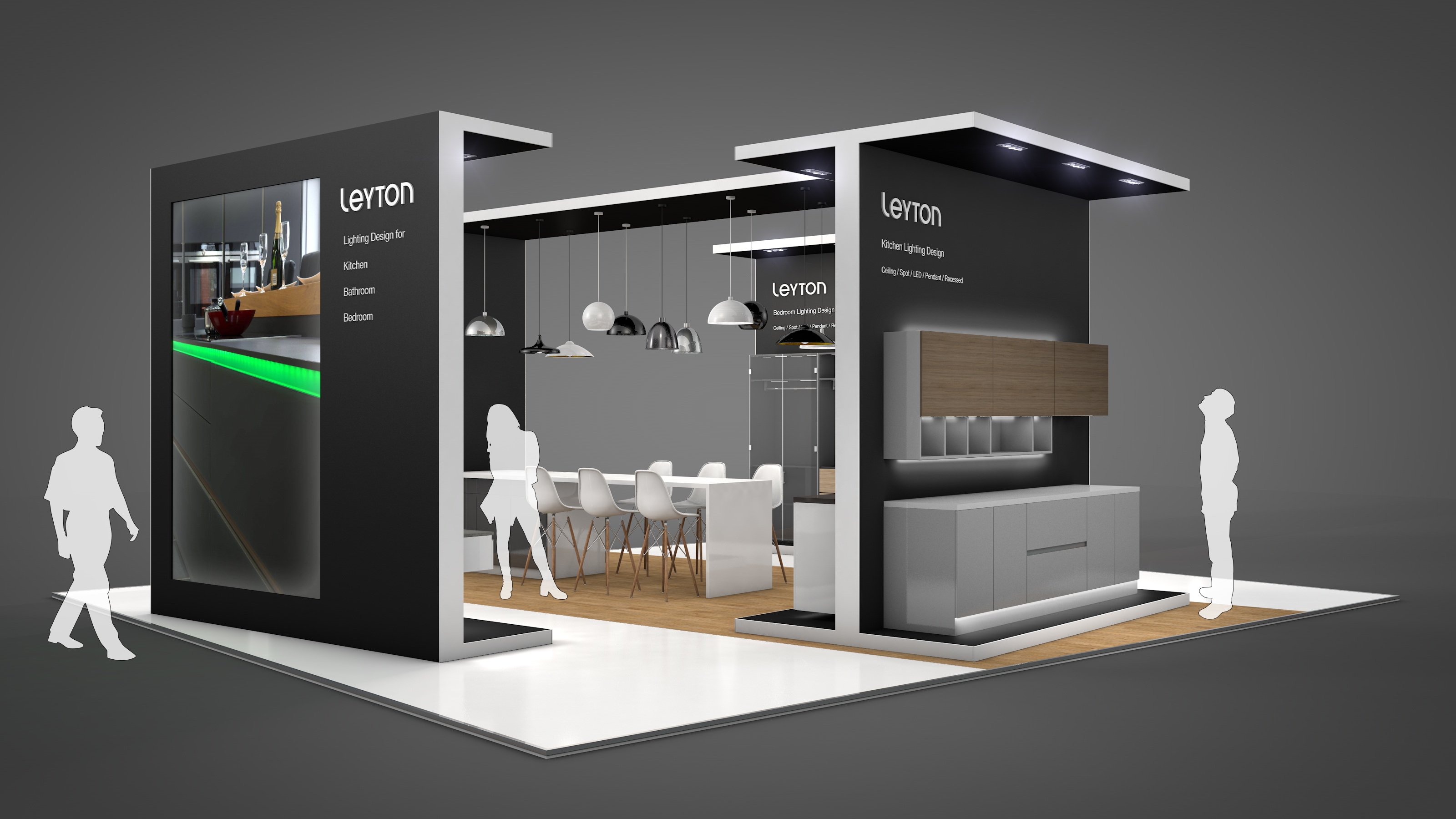 Simple Exhibition Stand Here Alone : Leyton lighting kbb hu d exhibition design
