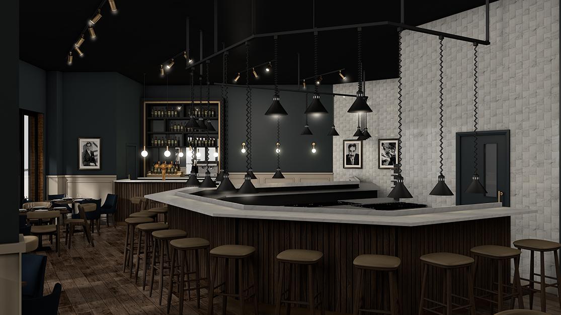Hu3d den restaurant interior visualisation cucina 1884 hu3d